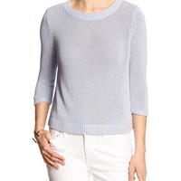 Banana Republic Womens Factory Linen/Cotton Open Back Sweater