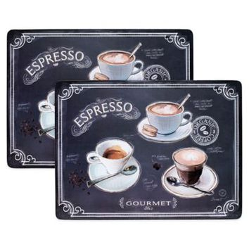 Avanti Coffee House Cork-Backed 2-Piece Placemat Set