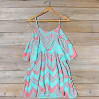 Indian Watercolor Dress in Mint