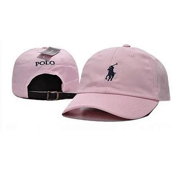 Polo Ralph Lauren Women Men Embroidery Solid Color Baseball Cap Hat