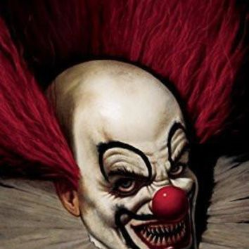 "Posters Slammy the Scary Clown Halloween Window Decoration 34.5""x60""  back lit poster"