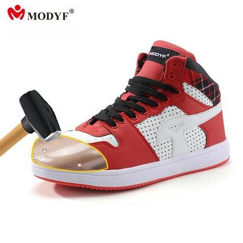 Modyf Men summer spring steel toe work safety shoes boots casual skateboard footwear a