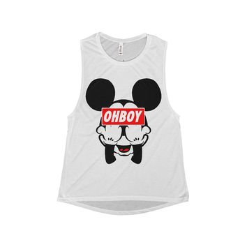 Mickey Mouse OHBOY Shirt Flowy Scoop Muscle Tank