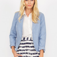 Denim Down Blazer