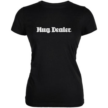 Hug Dealer Black Juniors Soft T-Shirt