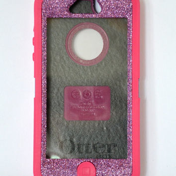 Otterbox Case iPhone 5 Glitter Cute Sparkly Bling Defender Series Custom Case purple/pink