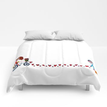 I'm in love   Be my Valentine   Kids Painting Comforters by Azima