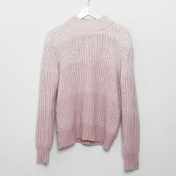 1990s Pink OMBRE ANGORA Fuzzy Sweater