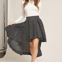 High-Low Polka Dot Skirt