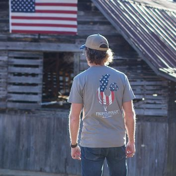 American Rooster T-Shirt in Grey by Fripp & Folly