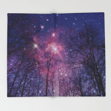 Throw Blanket - 'Stars Above Us' - Home Decor - Home, Decor, Modern, Home Warming Gift, Symmetry, Bohemian, Boho, Abstract