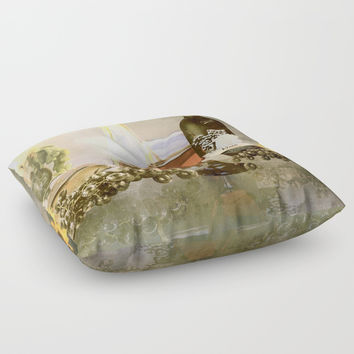 Dreams of Tuscany Floor Pillow by Theresa Campbell D'August Art