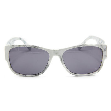 White Marble Print Sunglasses Unisex Wayfarer Style Unique Sunglasses G034
