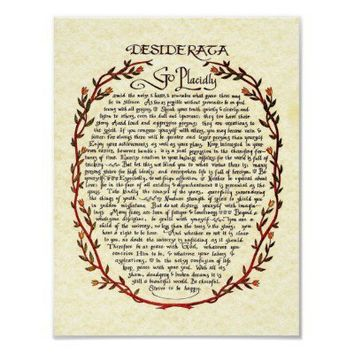 DESIDERATA with Wreath Trim Posters from Zazzle.com
