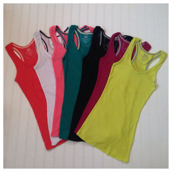 """Always Faithful"" Classic Racerback Ribbed Knit Tank Tops"