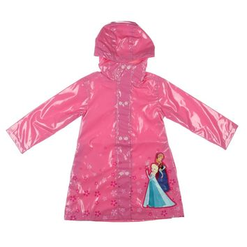 Disney Frozen Floral Print Long Sleeves Raincoat