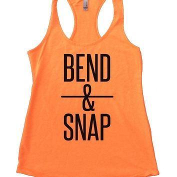 BEND & SNAP Womens Workout Tank Top