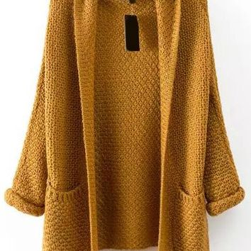 Womens Chunky Open Sweater One Size