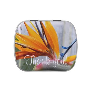 Bird of Paradise Floral Thank You Jelly Belly Tin