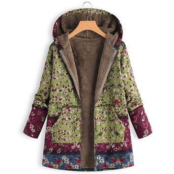 Plush Fluffy Floral Hoodie