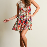 Wild Flowers Dress - Red Mix