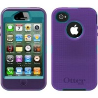 Otterbox Defender iPhone 4 / 4S Case with Holster (Purple and Blue)