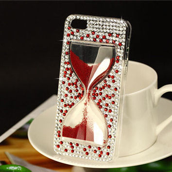 Handmade Rhinestone  hourglass iphone 6 6 plus case iphone 4s iphone 5s cover samsung galaxy note 4 case galaxy s3 s4 s5 cellphone case