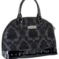 "Women's ""Damask"" Overnight Bag by Rock Rebel (Black)"