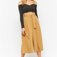 Belted Super High-Waist Culottes