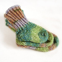 Stay-on baby socks in green brown and blue shades, wool baby booties choose size newborn, 2-6month, 6-12 month, 1-1.5 years