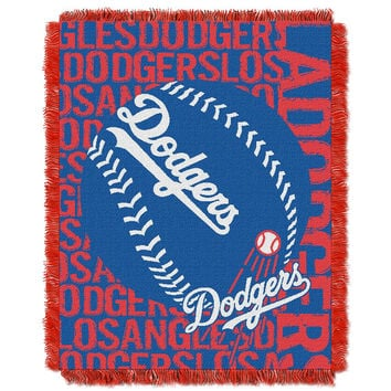 Los Angeles Dodgers MLB Triple Woven Jacquard Throw (Double Play) (48x60)