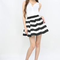 Stripe Bubble Skirt