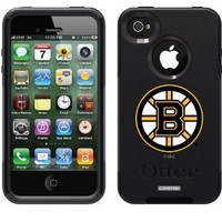 Boston Bruins - Primary Logo design on Black OtterBox Commuter Series Case for iPhone 4s / 4