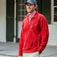 Unisex Red Pullover-Southern Marsh