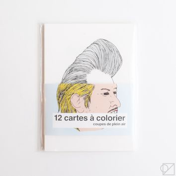 "Cards to Color ""Outside"" Hair"