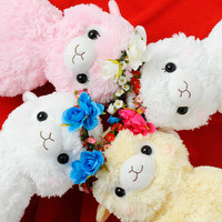 Alpacasso Plushies - Flower Crown Kids (Jumbo)