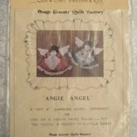 """""""Angie Angel"""" Guardian Angel Ornament Sewing Kit or Tooth Fairy Pillow Kit ~ NIP"""
