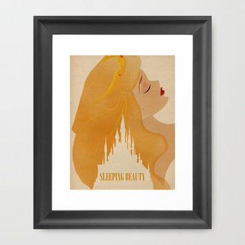 Sleeping Beauty Framed Art Print by Magicblood | Society6