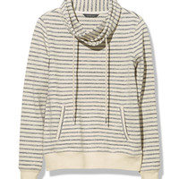 Signature Funnel-Neck Sweatshirt, Stripe