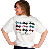 Southern Proper Bow Tie Tee in White by Southern Proper