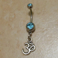 Belly Button ring - Om Belly Button Ring