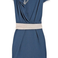 Roksanda Ilincic | Peridot draped wool-crepe dress | NET-A-PORTER.COM