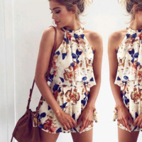 Jessmina Floral Two-Piece Romper