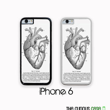 iPhone 6 Vintage Medical Chart Anatomical Heart Case | Hard Case For iPhone 6  Plastic or Rubber Trim