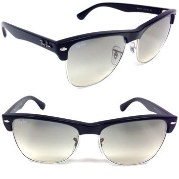 RAY BAN Large Clubmaster SUNGLASSES RB 4175 877/32 CRYSTAL GREY GRADIENT Black
