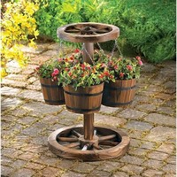 Double Wheel Planter - Outdoor & Garden - Home