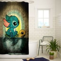 New Swimming Stitch and Turtle Quality Bathroom Shower Curtain 60x72 Inch
