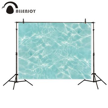 Allenjoy scenery photo backdrop water Light green sunshine summer cool swimming photocall vinyl backdrops for photography