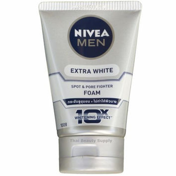 Nivea Men Extra White Spot & Pore Fighter Skin Whitening Facial Cleanser Foam