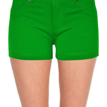 Shorts for Women Casual Stretchy with Pockets